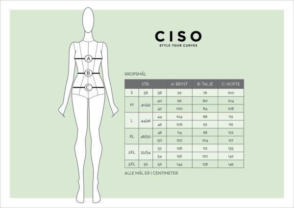 Ciso - størrelses guide
