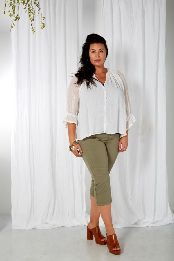 194-0347 - 105 Off white - Extra 3 Parker blouse Zoey