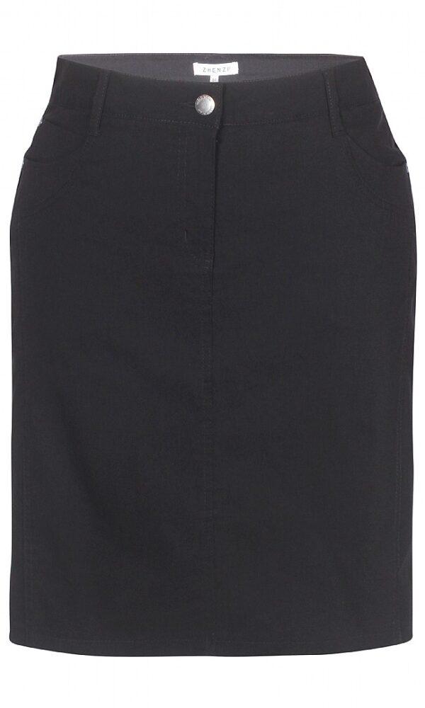 2703297 Zhenzi nederdel m lårskåner sort