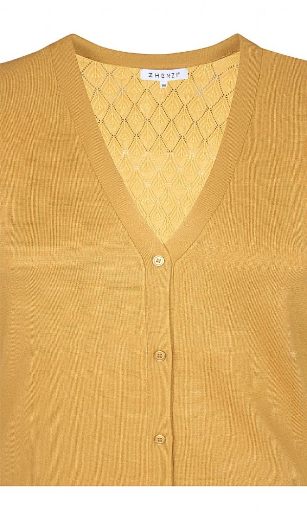 2807509 N Zhenzi lang cardigan mustard