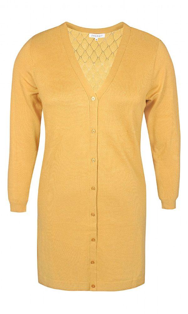 2807509 Zhenzi lang cardigan mustard
