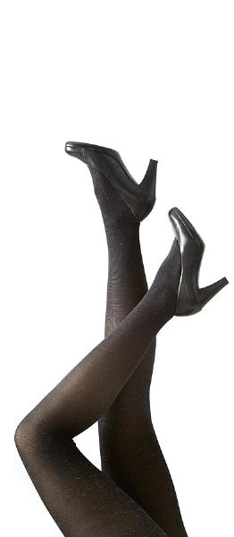Festival strømpebukser sort-sølv 96262