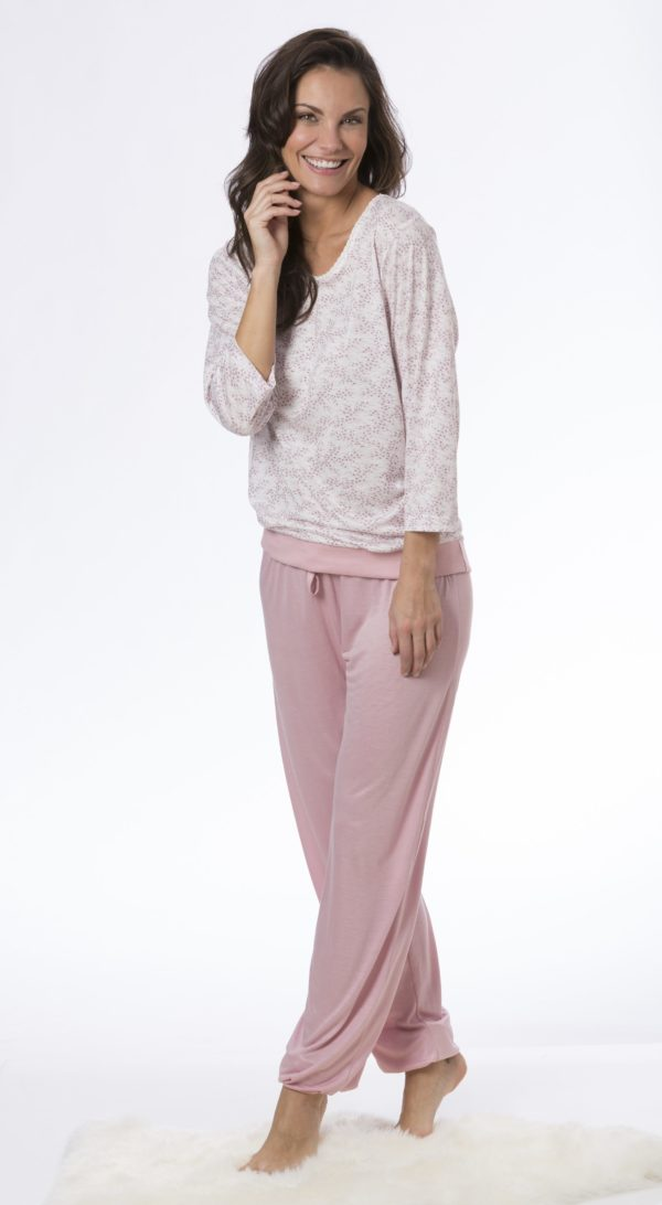 rofé pyjamas rosa-råhvid 68214 F