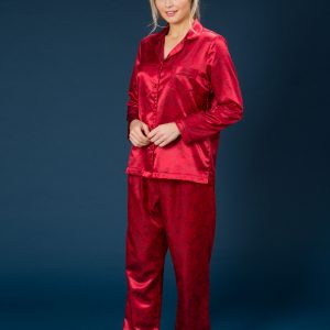 60236 Trofe Pyjamas satin rød