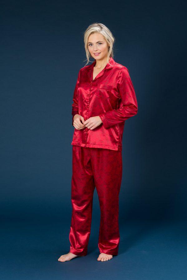 60236 Trofe Pyjamas satin rød