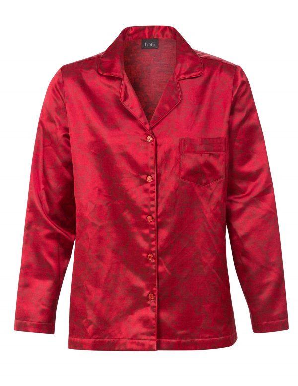 60236 Trofe pyjamas rød satin