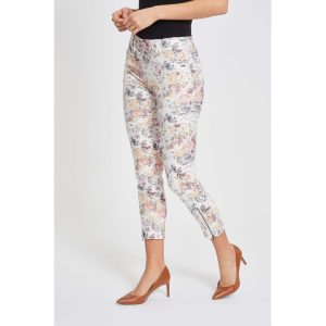 Laurie Madison Slim Cropped Pink P 21564