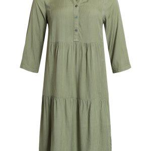 211003 Ciso kjole med flæser, olive green