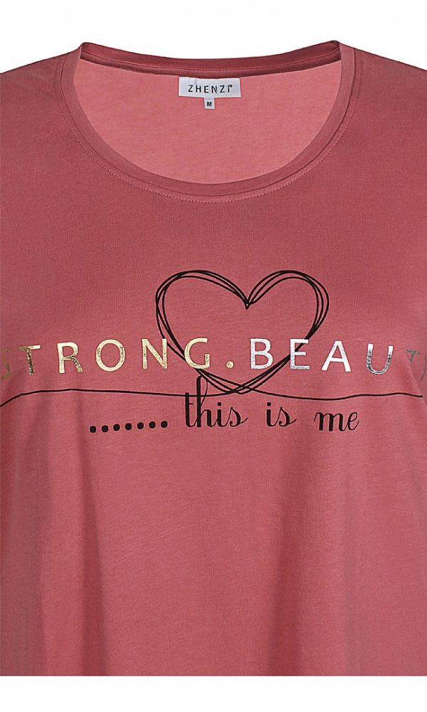 2510926 Zhenzi N t-shirt gammel rosa