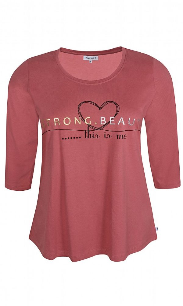 2510926 Zhenzi t-shirt gammel rosa