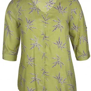 2102263 Zhenzi limegrøn skjorte