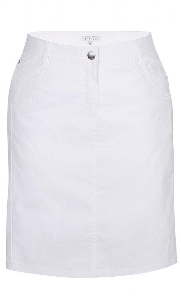 2703297 Zhenzi nederdel m lårskåner hvid