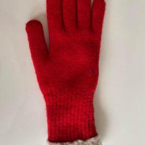 80213553 strikkede hansker rød